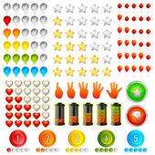Conjunto de icono de calificación — Vector de stock