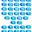 Stock Vector: Set of Alphabet and Number