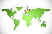 Worldwide Human Networking — Stock Vector