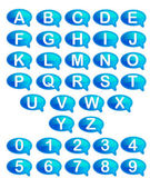 Set of Alphabet and Number — Stock Vector