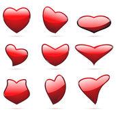 Different Shape Heart — Stock Vector