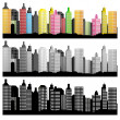 City Skyline - Imagens vectoriais em stock
