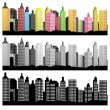 Royalty-Free Stock Imagem Vetorial: City Skyline