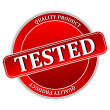 Tested Icon - Stockvectorbeeld