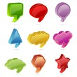 Colorful Speech Bubble — Stock Vector