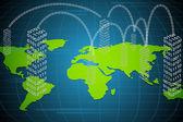 Virtual World — Stock Vector