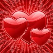 Glossy Heart — Stock Vector