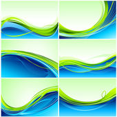 Set of Background — Stock Vector