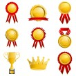 Set of Medal — Stock Vector