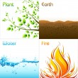 Elements of Earth — Stock Vector