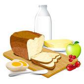 Breakfast — Stock Vector