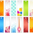 Stock Vector: Set of Bookmark