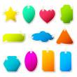 Different Shape Sticker — Vector de stock #5868644