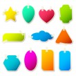 Royalty-Free Stock Vector Image: Different Shape Sticker