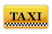 Taxi Symbol — Stock Vector