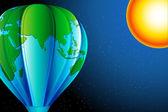 Earth Balloon — Stock Vector