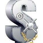 dollar veilig — Stockvector