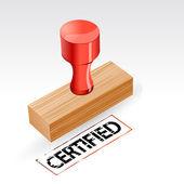 Timbro certificata — Vettoriale Stock