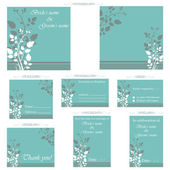 Wedding Reception Card — Vector de stock