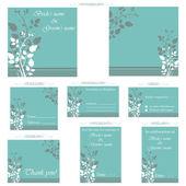 Wedding Reception Card — Stock Vector