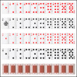 Complete set of Playing Card — Stok Vektör