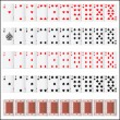 Complete set of Playing Card — Imagen vectorial