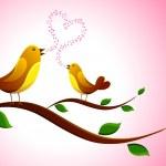 Singing Love Bird — Stock Vector