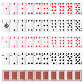 Vollständiger satz spielkarten — Stockvektor
