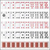トランプのカードの完全なセット — ストックベクタ