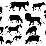 Animal Silhouette — Stock Vector