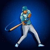 Jugador de béisbol — Vector de stock