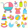 Baby Item — Stock Vector