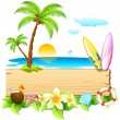 Sea beach — Vector de stock #6014692
