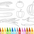 Vegetable Color Book - 