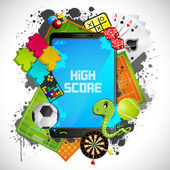 Mobile Gaming — Stock Vector