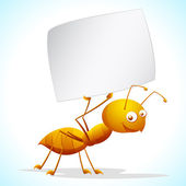 Ant with Placard — Stock Vector