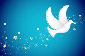 Flying Pigeon — Stock Vector