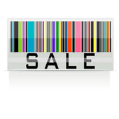 Colorful Sale Barcode — Stock Vector