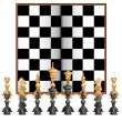 Chess Figure with Board - Stock Vector