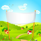 Banner in Landscape — Stock Vector