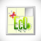 Eco Puzzle — Stock Vector