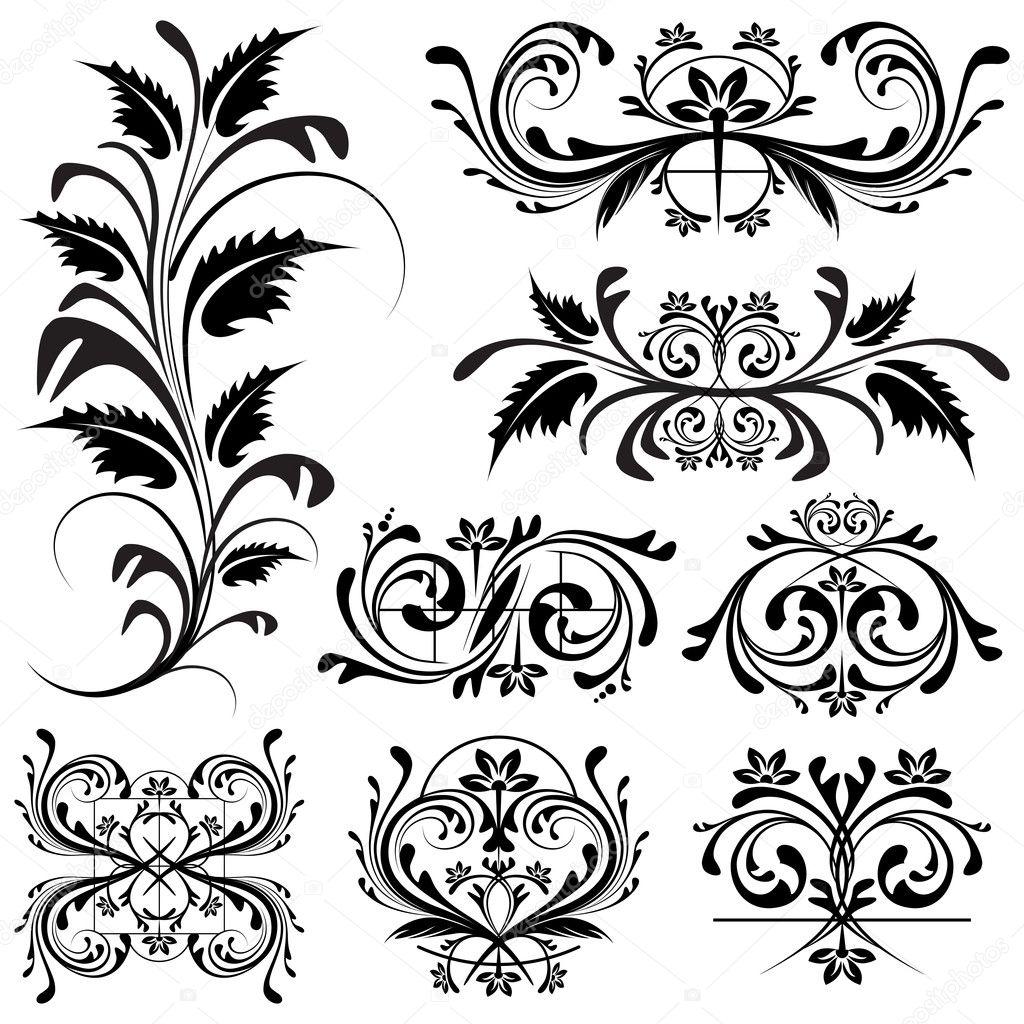 Element Design : Floral design element — stock vector vectomart