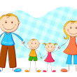 Royalty-Free Stock Vector Image: Cute Family