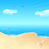 Sea Beach — Stock Vector