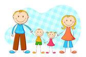 Cute Family — Stock Vector
