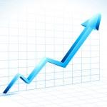 Growing Arrow — Stock Vector