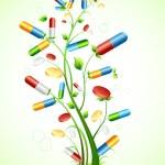 Medical Pill Tree — Stock Vector