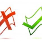 Tick and Cross Mark — Stock Vector