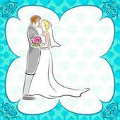 Bröllop kort — Stockvektor