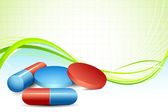 Medical Pill — Stock Vector